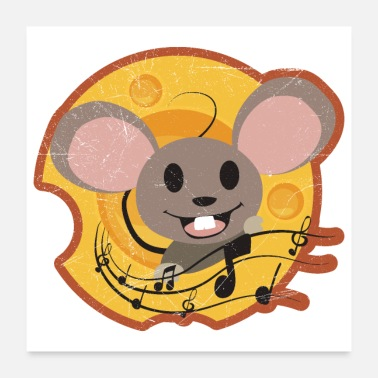 Cheesecake Cheese Mouse and Cheese Funny Gift Idea - Poster