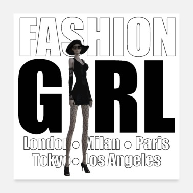 Highheels The Fashionable Woman - Fashion Girl - Poster