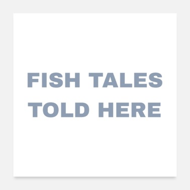 Flying Fish Tales Told Here - Poster
