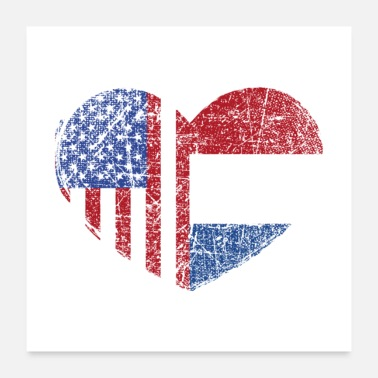 Holland USA Netherlands Heart - Poster