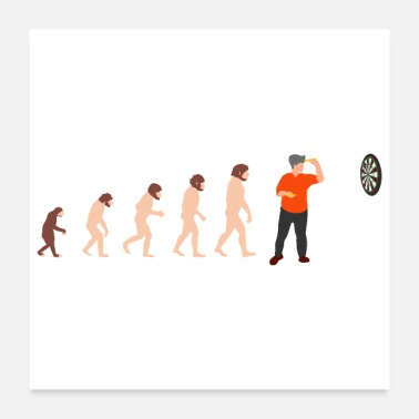 Funny Christmas Human Evolution Dart Player Funny Gift Idea - Poster