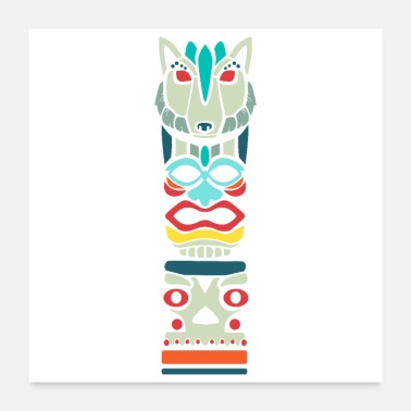 Wild Animal Spiritual Animals Wolf Color Funny Gift Idea - Poster