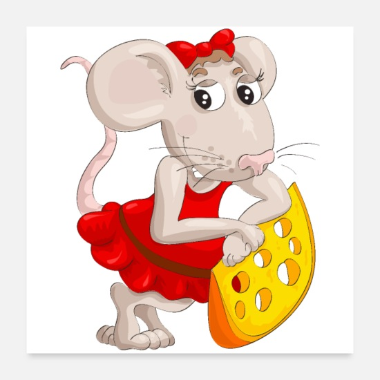 Rat Posters - Cute rat - Posters white