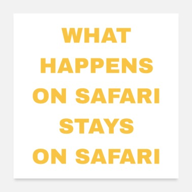 Tanzania What Happens On Safari - Poster