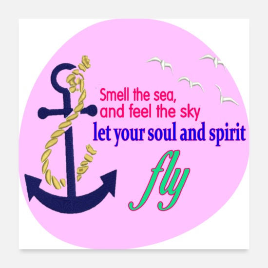 Motivational Posters - Smell the sea and feel the sky Caribbean Vacation - Posters white