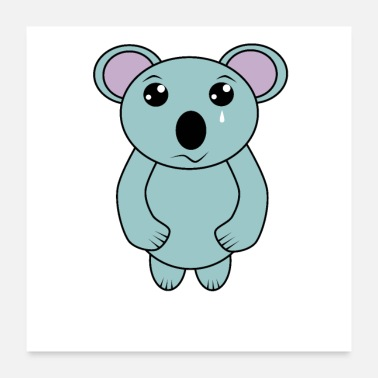 Poor Cute Crying Koala for Australia Save the Koala - Poster