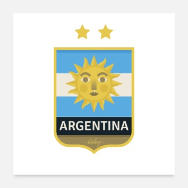 Shield argentinian soccer shield - Poster