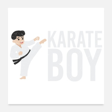 Boy Martial Arts Karate Boy Gift Idea - Poster