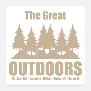 Outdoor The great outdoors - Clothes for outdoor life - Poster
