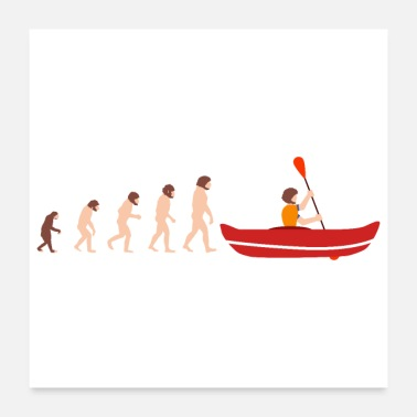 Rafting Evolution Canoeing Funny Gift Idea - Poster