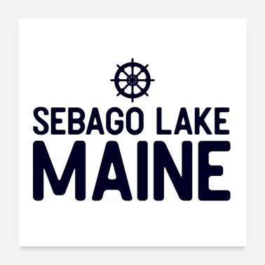 Lake Sebago Lake Maine - Poster