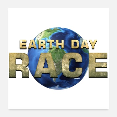 Race Day Earth Day Race - Poster