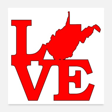 Charleston West Virginia is Love - Poster