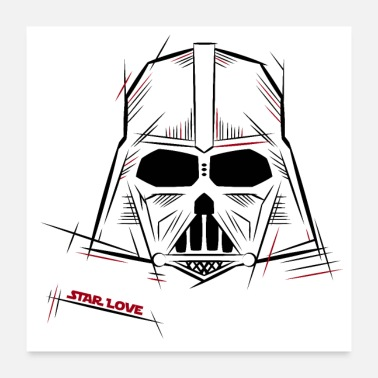 Darth Darth Vader Star Love - Poster
