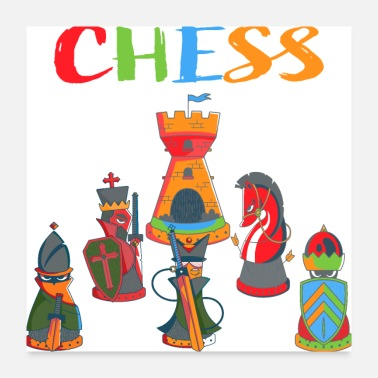 Chess Chess , Chessboard, gift , strategy, Chess Player - Poster