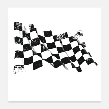Racing Flags Winner - Poster