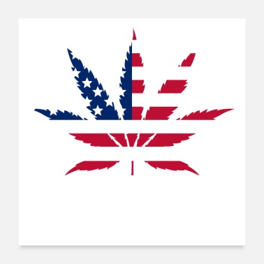 Anonymous Weed Leaf American Flag - Poster