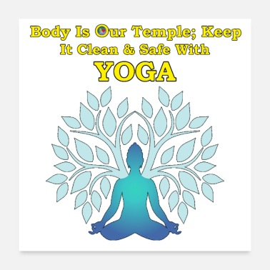 Cleaning Yoga clean & safe Body as Temple - Poster