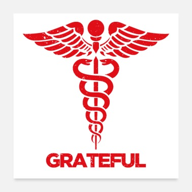 Staff Grateful Doctor and Nurse - Poster
