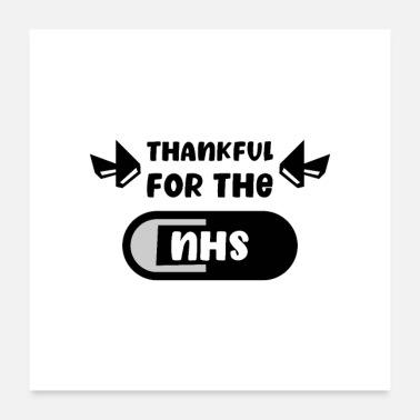 Thankful Thankful for the NHS - Poster