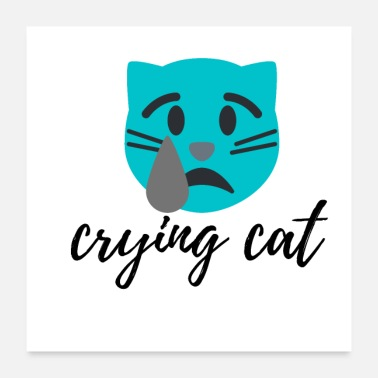 Caterpillar crying cat - Poster