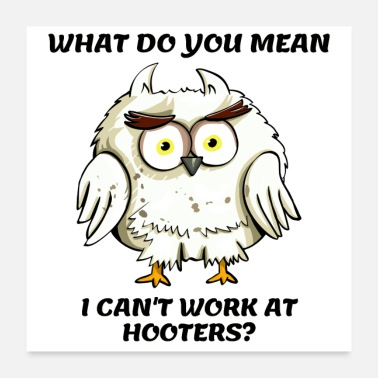 Poor WHAT DO YOU MEAN I CAN'T WORK AT HOOTERS? - Poster
