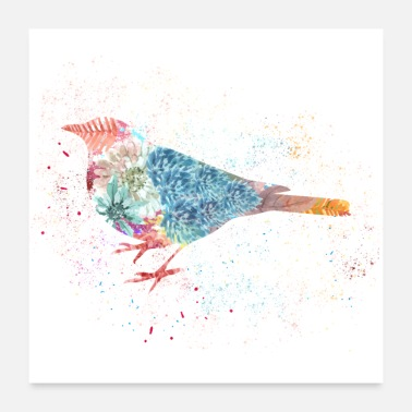 Chirp COLORFUL BIRD - Poster