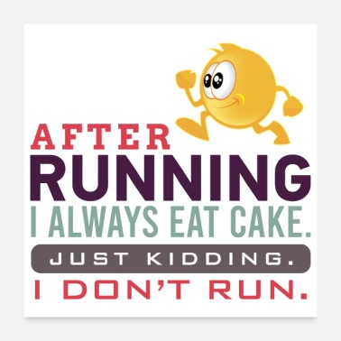 Running Funny sports Design - Poster