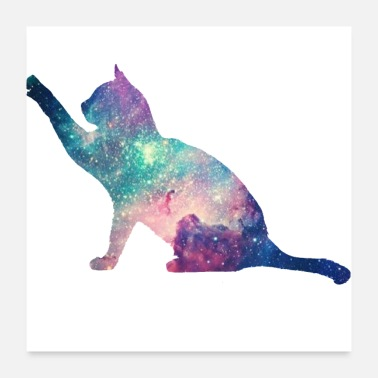 Cat galaxy cat for cats lovers - Poster