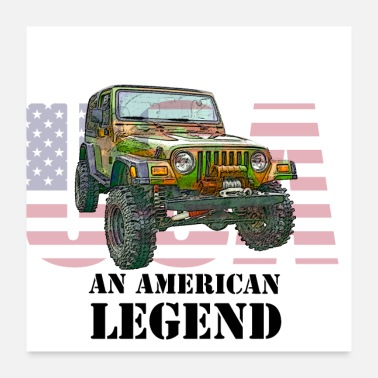 Vehicle Jeep American Legend-Off road, travel, design. - Poster