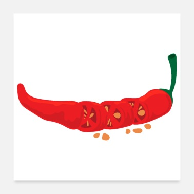 Hot Chilli Spicy Food Lover Funny Gift Idea - Poster