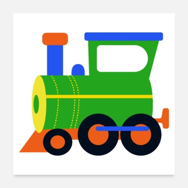 Transport locomotive, train, steam engine - Poster
