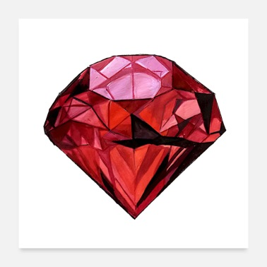 Red Red Diamond - Poster