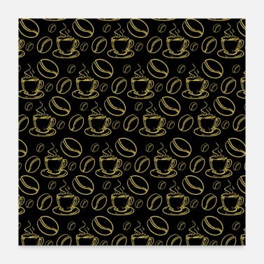 Patterned Coffee Pattern - Poster
