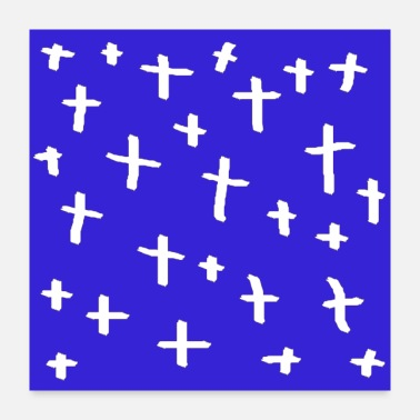 Crossbow blue white cross - Poster