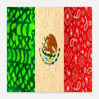 Mexican Vintage Mexican Flag - Poster