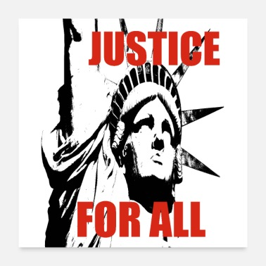 Lady Liberty Statue Of Liberty Justice For All Gifts - Poster
