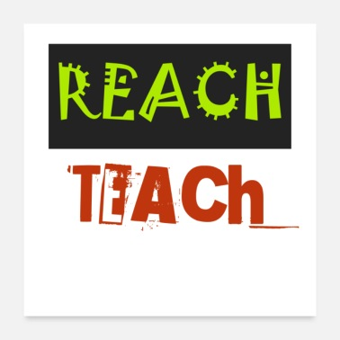 Teaching TEACH T SHIRT - Poster