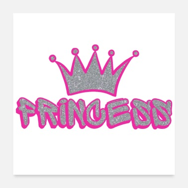 Sparkle Princess Crown Pink Sparkle Gifts - Poster