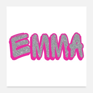 Sparkle Emma Name Pink Sparkle Gifts - Poster