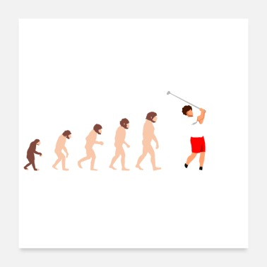 Ball Evolution Golfer Golf Funny Gift Idea - Poster