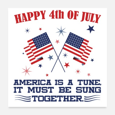 Tuning Happy 4th July,,, Independence day - Poster