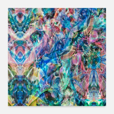 Modern Multicolored abstract painting - Poster