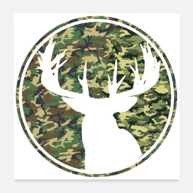 Deer Hunting Patch Deer Hunting Camouflage Patch 2 - Poster