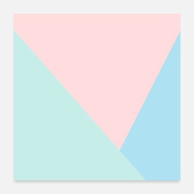Bright Colors Pastel bright - Poster
