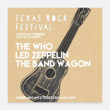 Band Poster Texas Rock Festival Poster - Poster