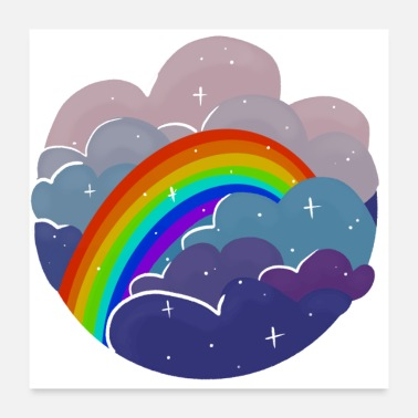 Rainbow Rainbow in the Clouds - Poster