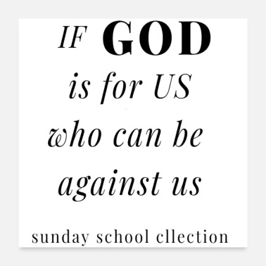 Religious If GOD is for US - Poster