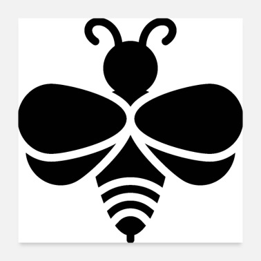 Scarlet bee icon - Poster