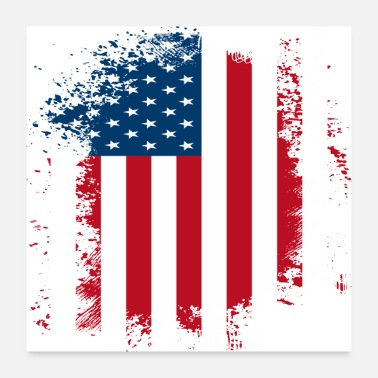 American American Flag Distressed - Poster